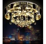 LED Deckenleuchte Kristall 2675-80cm  mit Fernbedienung  Lichtfarbe getrennt schaltbar 145w