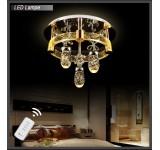LED Deckenleuchte Kristall 1616-550mm 66W  mit Fernbedienung  Lichtfarbe getrennt schaltbar