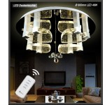 LED ceiling light 1666-Ø60cm  crystal clear incl. LEDs and remote control 48W