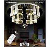 LED Deckenleuchte Kristall 1666 Ø 60 cm 48 W  mit Fernbedienung  Lichtfarbe getrennt schaltbar