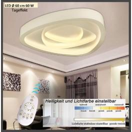 LED Deckenleuchte 2113-600 ∅ 60cm LED 60W mit Fernbedienung Lichtfarbe/ Helligkeit einstellbar