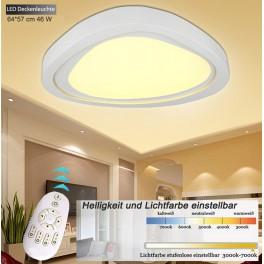 LED Deckenleuchte 2111 white mit Fernbedienung Lichtfarbe/Helligkeit einstellbar A+ 46 W