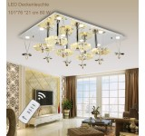 LED ceiling light 1680 101*76 cm crystal clear incl. LEDs and remote control light color  adjustable 80 W