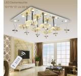 LED Deckenleuchte Kristall 1680 101*76 cm  mit Fernbedienung  Lichtfarbe getrennt schaltbar 80 W