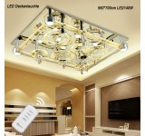 LED ceiling light 2901 95*75 cm crystal clear incl. LEDs and remote control light color adjustable 140 W