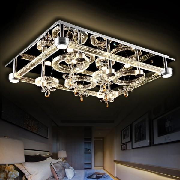 Led chandelier light led ceiling light led lamp led lights leds and remote control led ceiling light 2901 9575 cm crystal clear incl leds and remote control aloadofball Images