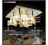 LED Deckenleuchte Kristall 1681 50*50 cm 96 W  mit Fernbedienung  Lichtfarbe getrennt schaltbar A+