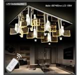 LED Deckenleuchte Kristall 1681 68*48 cm 108 W  mit Fernbedienung  Lichtfarbe getrennt schaltbar A+