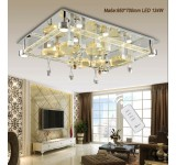 LED ceiling light 2906 95*75 cm crystal clear incl. LEDs and remote control light color adjustable 134 W