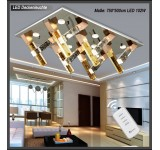 LED ceiling light 1562 75*50 cm crystal clear incl. LEDs and remote control light color adjustable 104 W