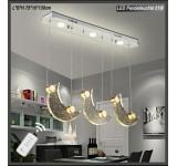 LED Pendelleuchte 1668-3 Mondkristalle Fernbedienung Lichtfarbe einstellbar A+