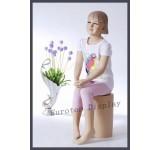 sitzende Kinderpuppe Mädchen BB-13