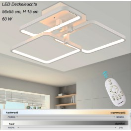 LED ceiling light XW007-3. Incl. LEDs and remote control light and color adjustable 60 W