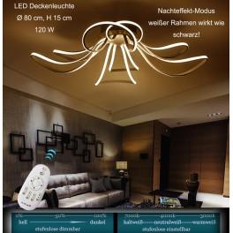 LED Deckenleuchte XW016-8. Mit der Fernbedienung ist die Lichtfarbe/Helligkeit einstellbar A+