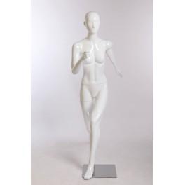 Abstrakte laufend weiß glänzend mann frau sportlich schick mode Schaufensterpuppe