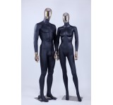 Male Female Abstract Showcase Doll Electroplating Head Hands New Black