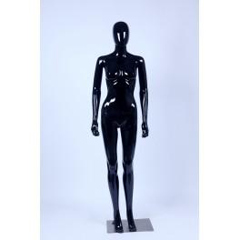 Weibliche Abstrake Schaufensterpuppe schwarz Glänzend Hautfarbe Frau Egghead Neu