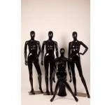 Female Abstrakte Schaufensterpuppe black Glossy skin color Frau Egghead New