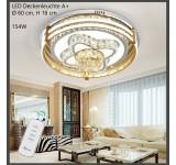 5617-60 Goldener Rahmen mit Fernbedienung 3 Moduse einstellbar Kristall Klar Metallrahmen