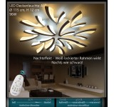 XW062 LED ceiling light with remote control light color / brightness adjustable acrylic screen white lacquered metal frame