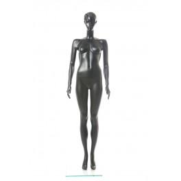 Weiblich abstrakte Schaufensterpuppe CS-17-8 schwarz matt modellierte Frisur Gesicht schick