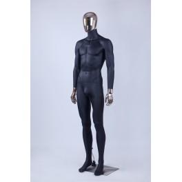 Männlich Weibliche Abstrakte Schaufensterpuppe Galvanik Kopf Hände Neu Schwarz
