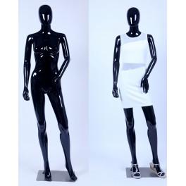 F3-F1-1 Frau Weibliche Abstrake Schaufensterpuppe schwarz Glänzend Hautfarbe Frau Egghead Neu