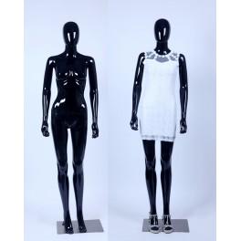 F6-F1-1 Frau Weibliche Abstrake Schaufensterpuppe schwarz Glänzend Hautfarbe Frau Egghead Neu