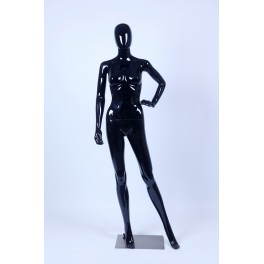 F21-F1-1 Female Abstrakte Schaufensterpuppe black Glossy skin color Frau Egghead New