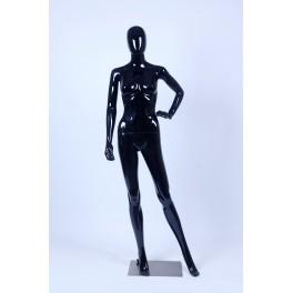 F21-F1-1 Frau Weibliche Abstrake Schaufensterpuppe schwarz Glänzend Hautfarbe Frau Egghead Neu