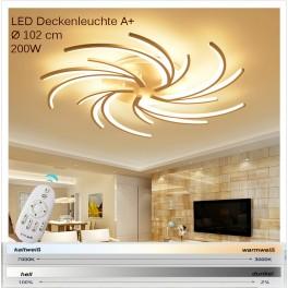 2042-5WJ LED Deckenleuchte mit Fernbedienung Lichtfarbe/ Helligkeit einstellbar Acryl-Schirm weiß lackierter Metallrahmen