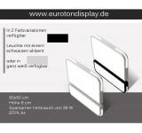 1687-2 LED Deckenleuchte mit Fernbedienung Lichtfarbe/Helligkeit einstellbar Acryl-Schirm weiß/Schwarz lackierter Metallrahmen