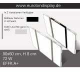 1687-3 LED Deckenleuchte mit Fernbedienung Lichtfarbe/Helligkeit einstellbar Acryl-Schirm weiß/Schwarz lackierter Metallrahmen