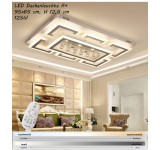 XW803 LED Deckenleuchte mit Fernbedienung Lichtfarbe/Helligkeit einstellbar Acryl-Schirm weiß lackierter Metallrahmen