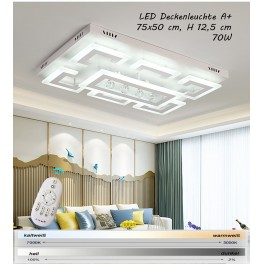 XW803 LED ceiling light with remote control Light color / brightness adjustable Acrylic shade white  lacquered