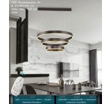 LED Pendelleuchte 6053O Braun/Kaffee mit Fernbedienung Lichtfarbe/helligkeit einstellbar A+