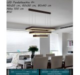 LED pendant lamp DD146 with remote control light color / brightness adjustable A +
