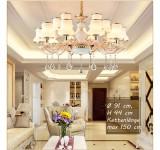 0918 Kronleuchter Deckenlampe Kristall Fassung E14 Luxuriös Neu Lüster Deckenleuchte Leuchte Hängend Wohnzimmer Schlafzimmer