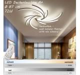 2042-3WJ LED Deckenleuchte mit Fernbedienung Lichtfarbe/ Helligkeit einstellbar Acryl-Schirm weiß lackierter Metallrahmen
