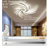 2042-3WJ LED ceiling light with remote control light color / brightness adjustable acrylic shade white