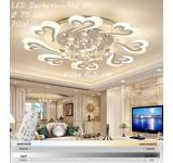 XW804 LED Deckenleuchte mit Fernbedienung Lichtfarbe/ Helligkeit einstellbar Acryl-Schirm weiß lackierter Metallrahmen