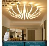 XW810 LED Deckenleuchte mit Fernbedienung Lichtfarbe/ Helligkeit einstellbar Acryl-Schirm weiß lackierter Metallrahmen