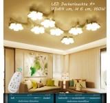 XW811 Sakura LED Deckenleuchte mit Fernbedienung Lichtfarbe/ Helligkeit einstellbar Acryl-Schirm weiß lackierter Metallrahmen