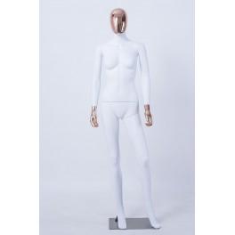 Männlich Weibliche Abstrakte Schaufensterpuppe Galvanik Kopf Hände Neu weiß