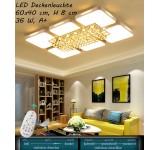 B-Ware B32  LED Deckenleuchte 8232-90x60 cm, H 8 cm, 65 W A+ mit Fernbedienung Lichtfarbe/helligkeit einstellbar A+