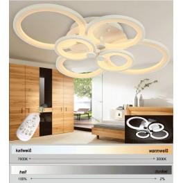 6067 LED Deckenleuchte mit Fernbedienung Lichtfarbe/helligkeit einstellbar Acryl-Schirm A+