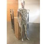 DM1-H  Abstract skin color in shine male shop shopper black figure Egghead