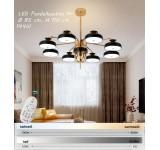 LED Pendelleuchte XW816 mit Fernbedienung Lichtfarbe/ Helligkeit einstellbar Acryl-Schirm lackierter Metallrahmen