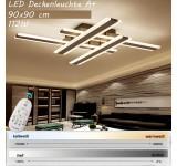 LED Deckenleuchte XW820 mit Fernbedienung Lichtfarbe/ Helligkeit einstellbar Acryl-Schirm lackierter Metallrahmen