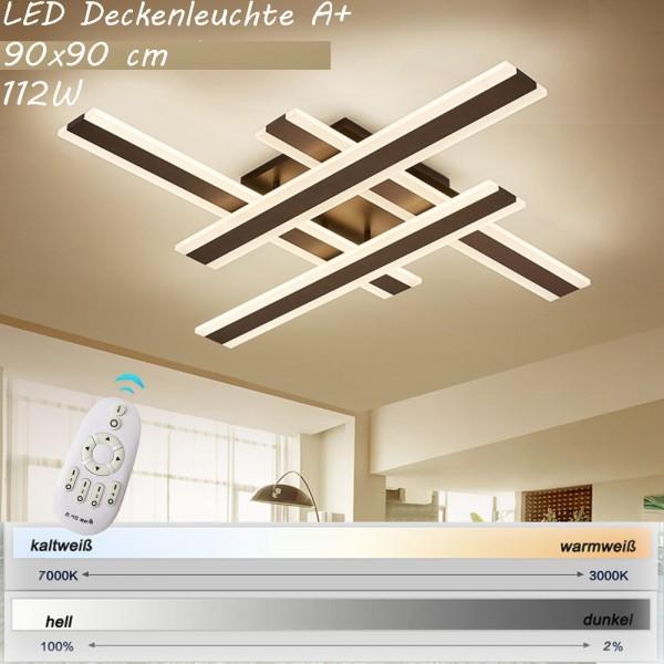 Sparsam A LED Deckenleuchte Lichtfarbe und Helligkeit einstellbar Acryl